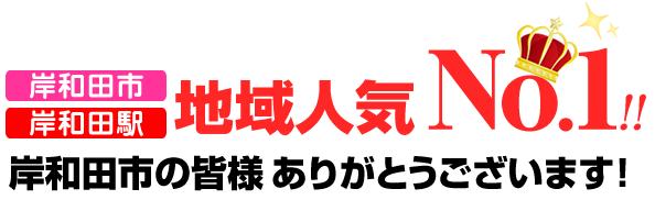 岸和田市、岸和田駅地域No.1